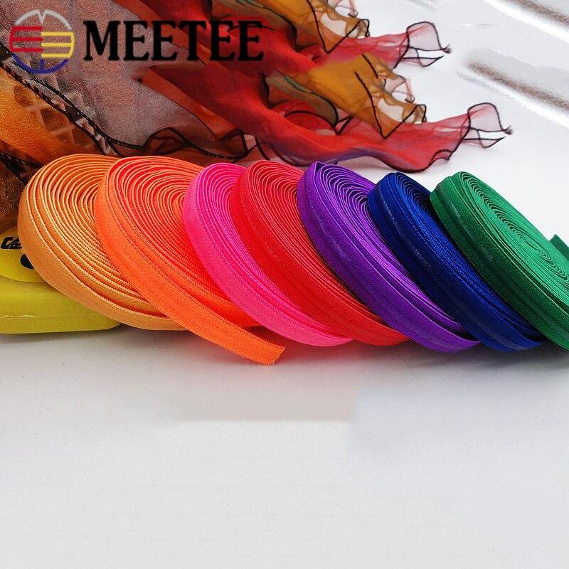 Meetee 10/20m 10mm silicone transparente antiderrapante elástico banda cor cueca cinta de borracha estiramento laço webbing diy beltmaterial