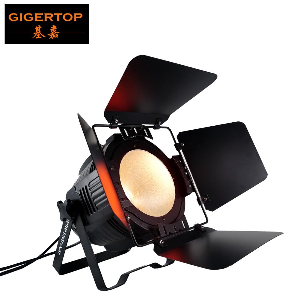 TIPTOP 200W COB Par luz LED de escenario blanco DMX 512 efecto de iluminación de escenario DJ Bar eventos Club hogar luces para fiesta de boda