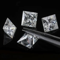 square moissanite loose stone 5 55 5mm1ct white d color diamond customize diy material with certificate