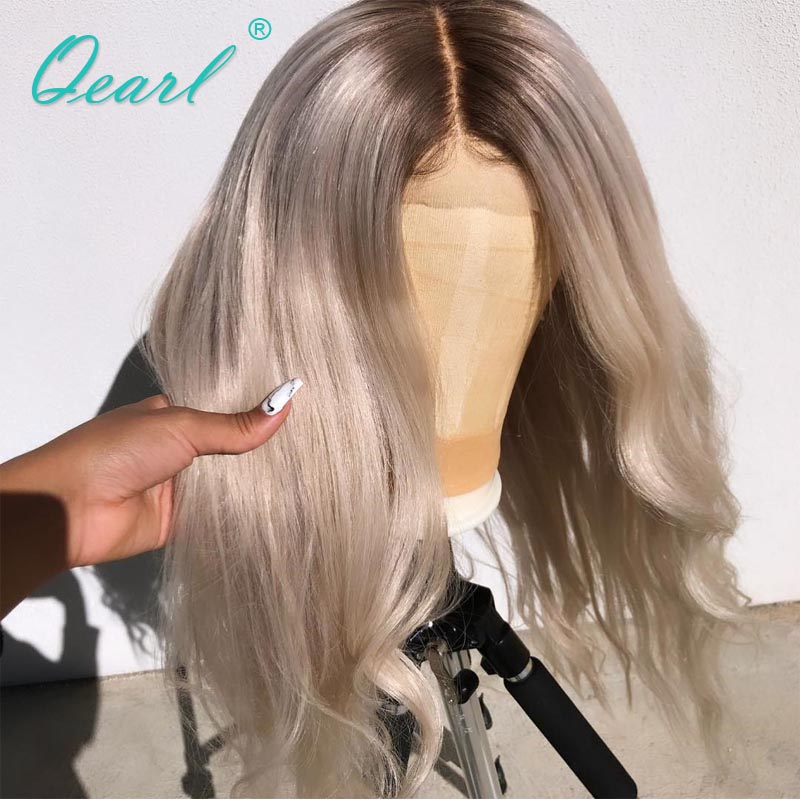 Platinum Blonde 60# Ombre Colored Human Hair Lace Front Wig 13x4/13x6 Body Wave Remy Hair for Women Glueless 150% 180% Qearl