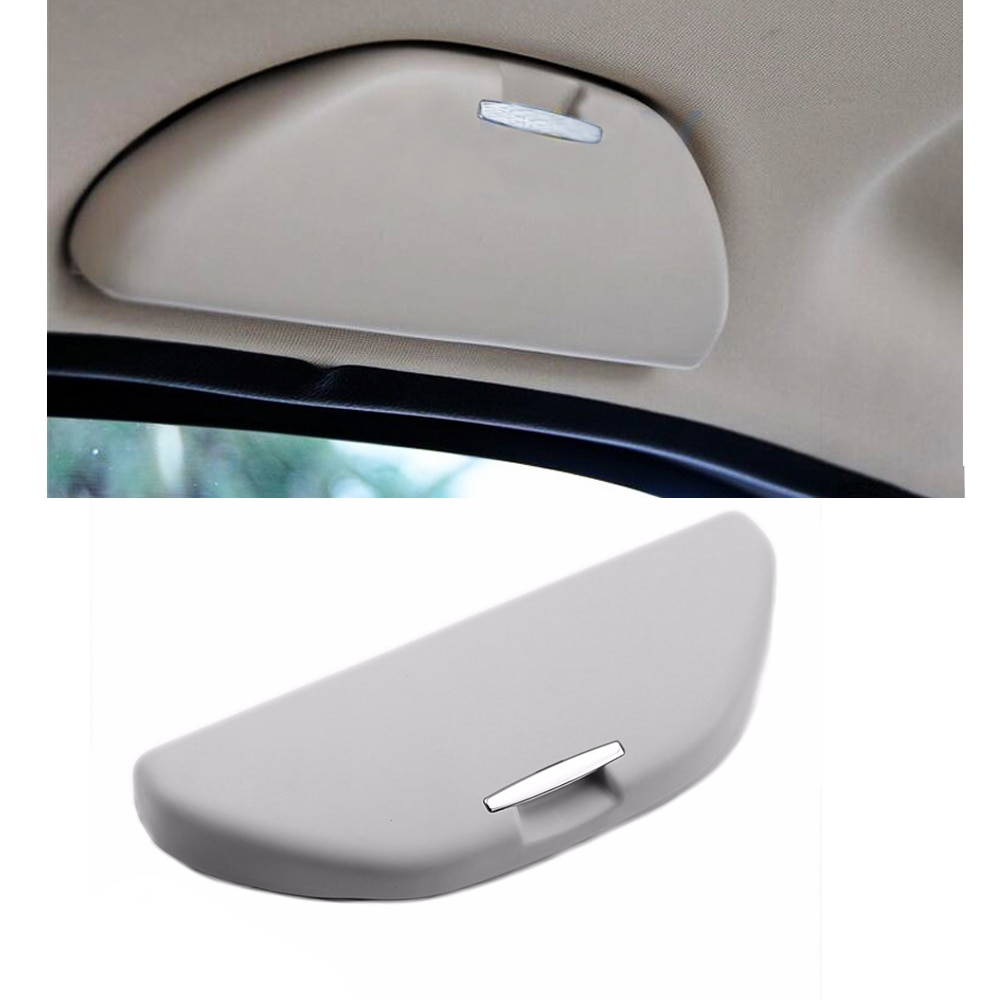 Estuche para gafas de sol de coche estuche para gafas de sol soporte para lentes para Volkswagen Polo 6R para Skoda Fabia Octavia Fabia gris