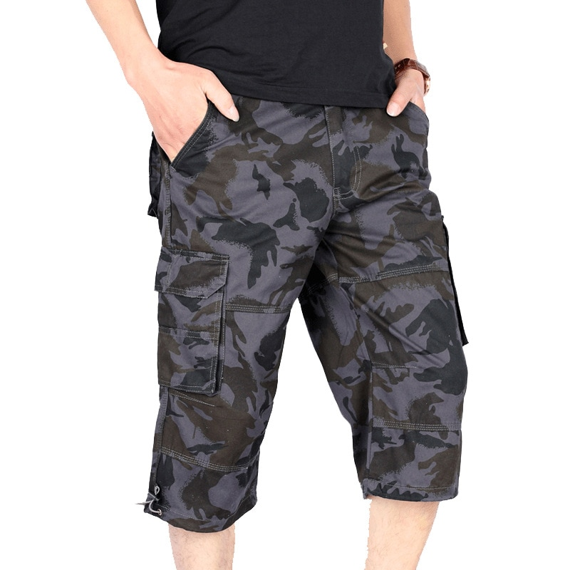 Камуфляж мужские шорты Уличная летняя одежда; Повседневные короткие штаны-карго для Спортивная дышащая Джоггеры мужские шорты с карманами