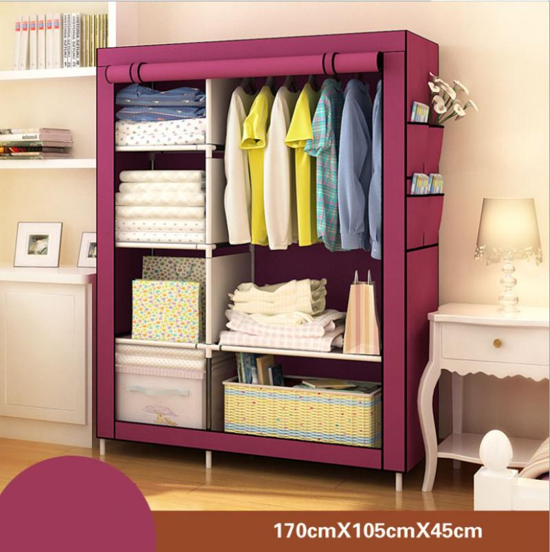 actionclub multifunction non woven cloth closet dust proof moisture proof high quality fabric wardrobe clothes storage cabinet Multi-Purpose Non-Woven Cloth Wardrobe Fabric Closet Portable Folding Dustproof Waterproof Clothing Storage Cabinet Furniture