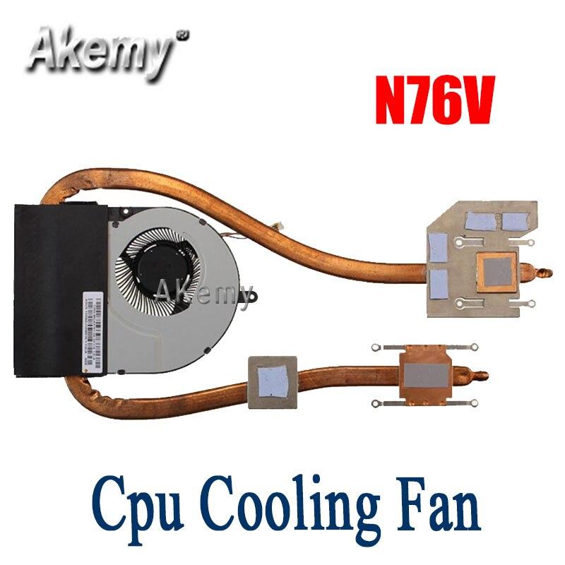 Original Cpu ventilador de refrigeración para For Asus N76V N76VJ N76VM N76VZ N76VB N76VV ordenador portátil enfriador fan disipador de calor del radiador