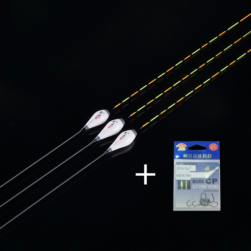 3 unids/lote Pesca flota de Nano Material de Pesca boya 1-3 muerde...