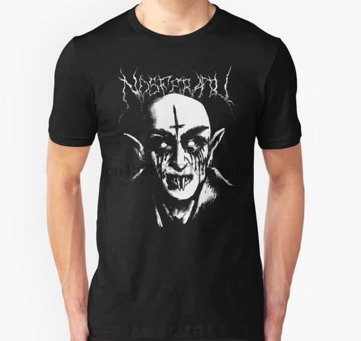 Homens tshirt Preto Metal Nosferatu Camisa de T das mulheres T-shirt T-shirt top