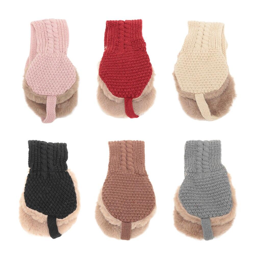 Новое поступление, винтажные шерстяные Чехлы для ушей, милые теплые вязаные осенне-зимние аксессуары для девочек, однотонные наушники