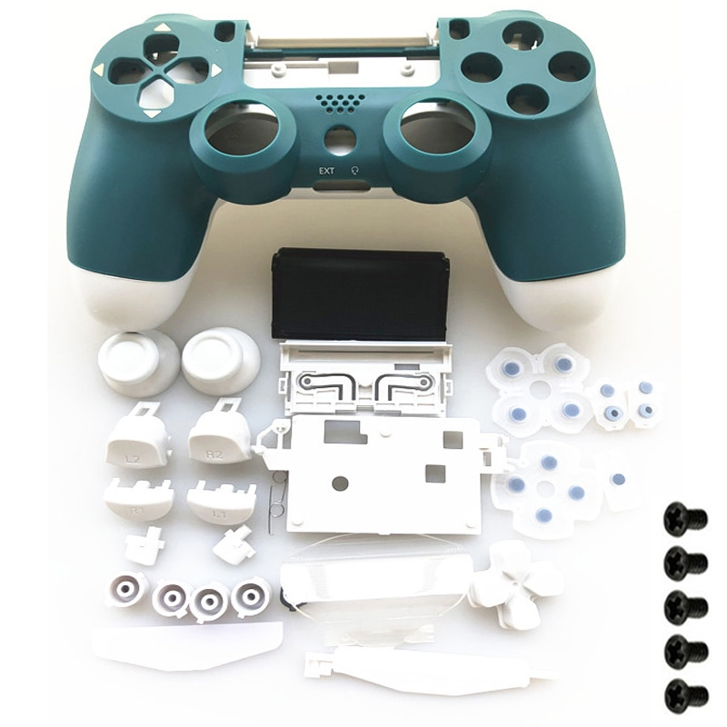 Replace Full Set Housing shell and buttons For jds 040 JDM-040 DualShock 4 PlayStation 4 PS4 Pro V2 Controller Alpine Green Case фото
