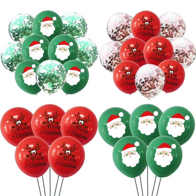 Lote decoración navideña de confeti de látex, globo de Navidad, fiesta de...