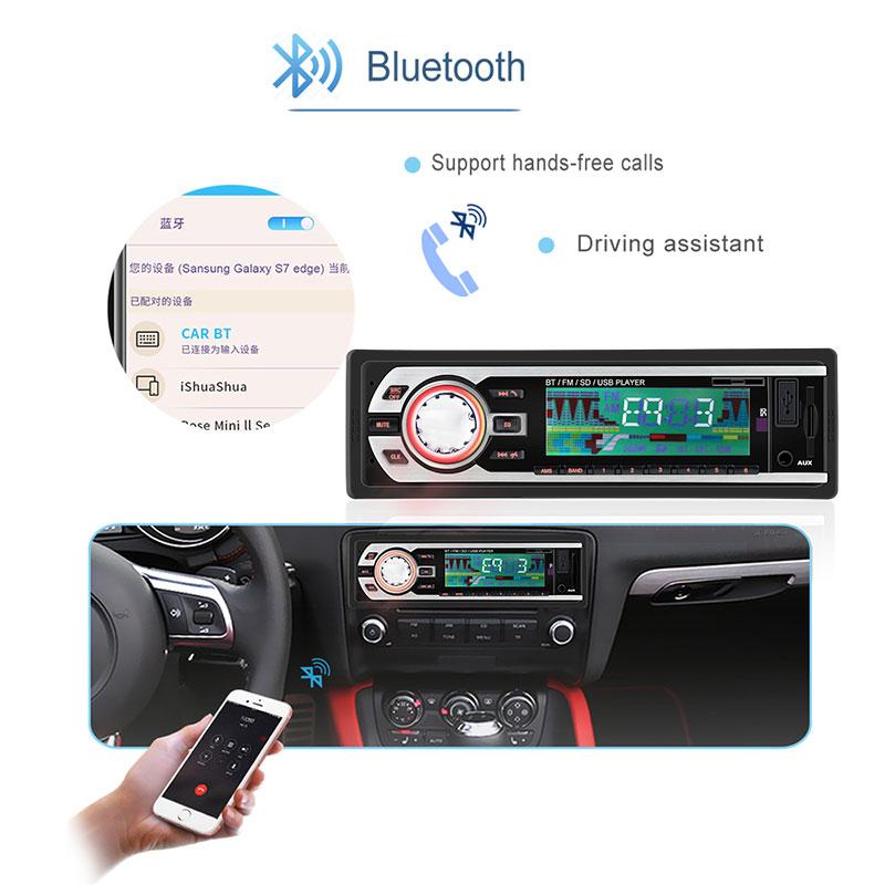 Radio de coche 24V, Audio estéreo para coche, Bluetooth en el salpicadero, 1 Din, FM, receptor de entrada auxiliar, SD, USB, MP3, ISO, conector autorradio oto teypleri