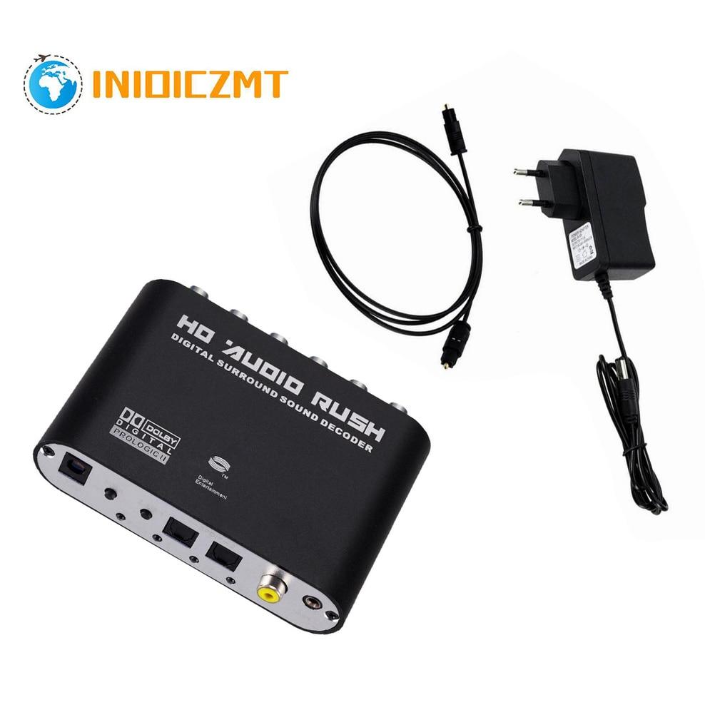 INIOICZMT AC3 الصوت الرقمي إلى التناظرية 5.1 قناة ستيريو DAC محول البصرية SPDIF محوري AUX 3.5 مللي متر إلى 6RCA فك مكبر للصوت