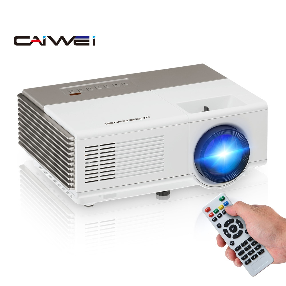 CAIWEI A3 Portable LCD LED Projector Support HD 1080P Mini Home Video Projectors 2800 Lumen Multimed