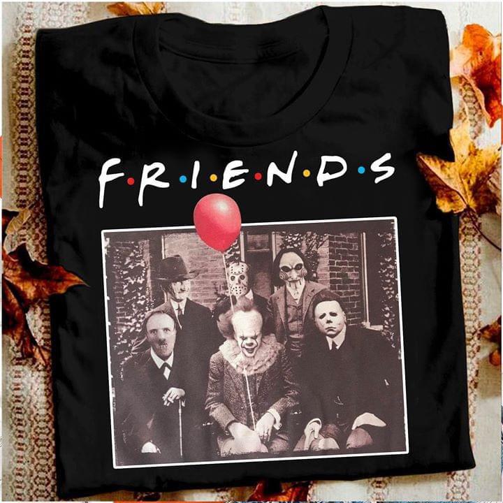 Horror Friends Michael Myers Jason Voorhees Halloween T-Shirt T-shirt Friend Tv Show Horror Character Pennywise printio jason voorhees