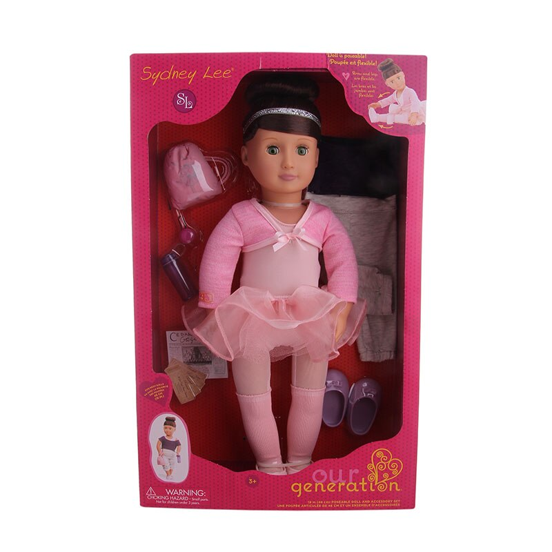 Бесплатная доставка, 10 комплектов, кукла для балета, для танцев, 18 дюймов, блонд/коричневые волосы, 45 см, кукла (включая куклу), для маленьких д...