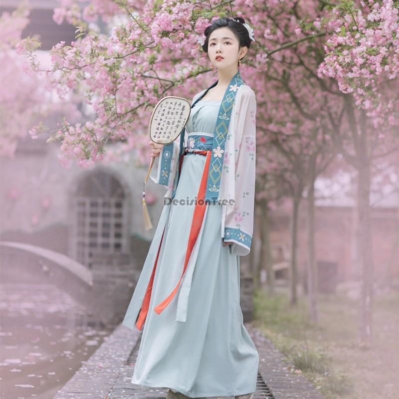 أزياء لعام 2021 الصينية القديمة hanfu ملابس نسائية ريترو سونغ سلالة الأميرة مهرجان الزي ملابس الرقص الشعبي زي شرقي