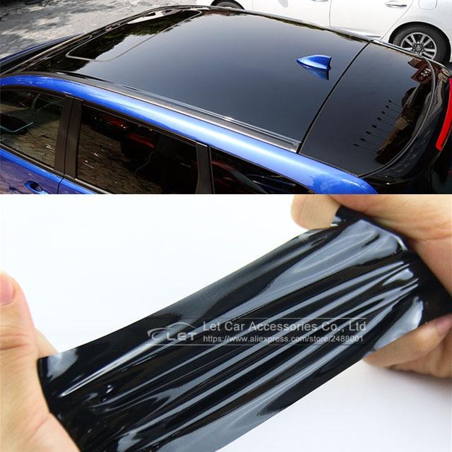 Bright Black Red White Glossy Black Vinyl Car Decal Wrap Sticker Black Gloss Film Wrap Retail For HO