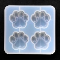 cat paw silicone mold 4 cavity dog paw mold animal clear mold for uv resin decoden cabochon diy resin molds for jewelry