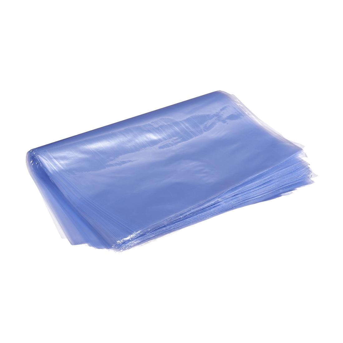 Bolsas retráctiles uxcell bolsas de envoltura termorretráctil de PVC bolsas de embalaje flexibles encogibles bolsas de sellado de embalaje Industrial