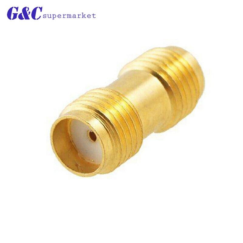 1PC interruptor hembra SMA inverso RP SMA hembra jack de RF adaptador coaxial acoplador recto chapado en oro diy electrónica