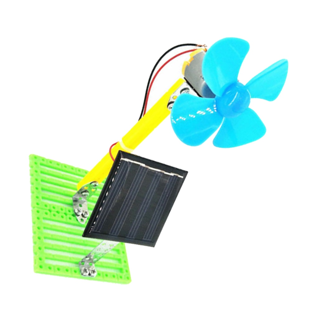 Science Experiment Discovery Educational Toys Cool DIY Invention Plastic Small Solar Fan Creative Ha