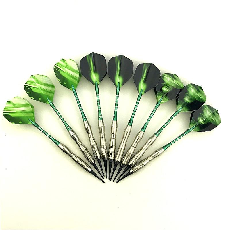 3 pieces / set of professional darts 18g green soft tip darts aluminum alloy darts throwing game
