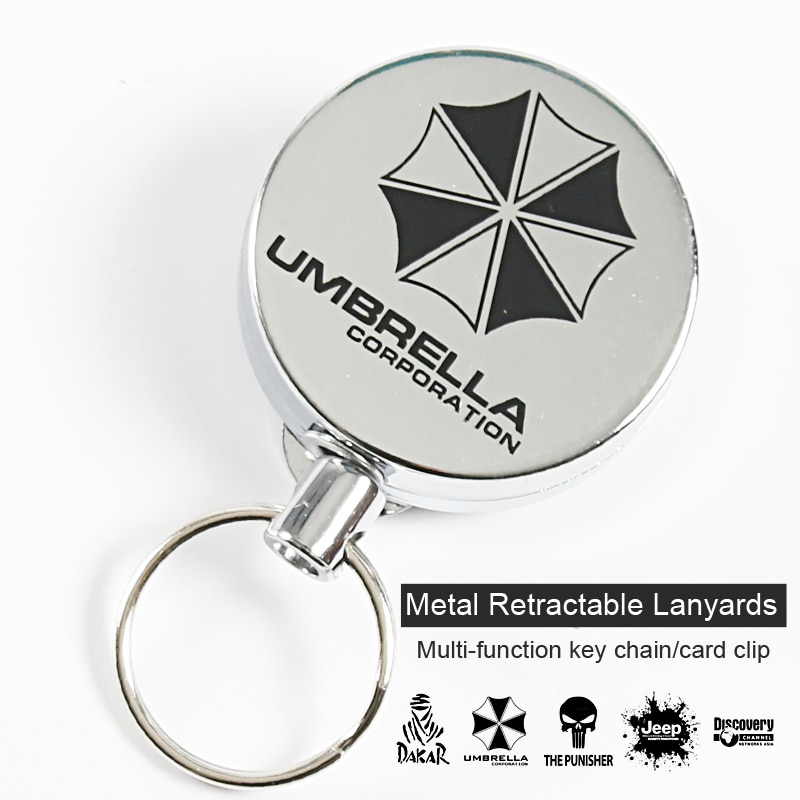 AliExpress - Metal Retractable Key Chain Lanyards Id Badge Holder Reel Lanyard Clip Name Bage Holder Tags Card Holder  Guard Against Theft