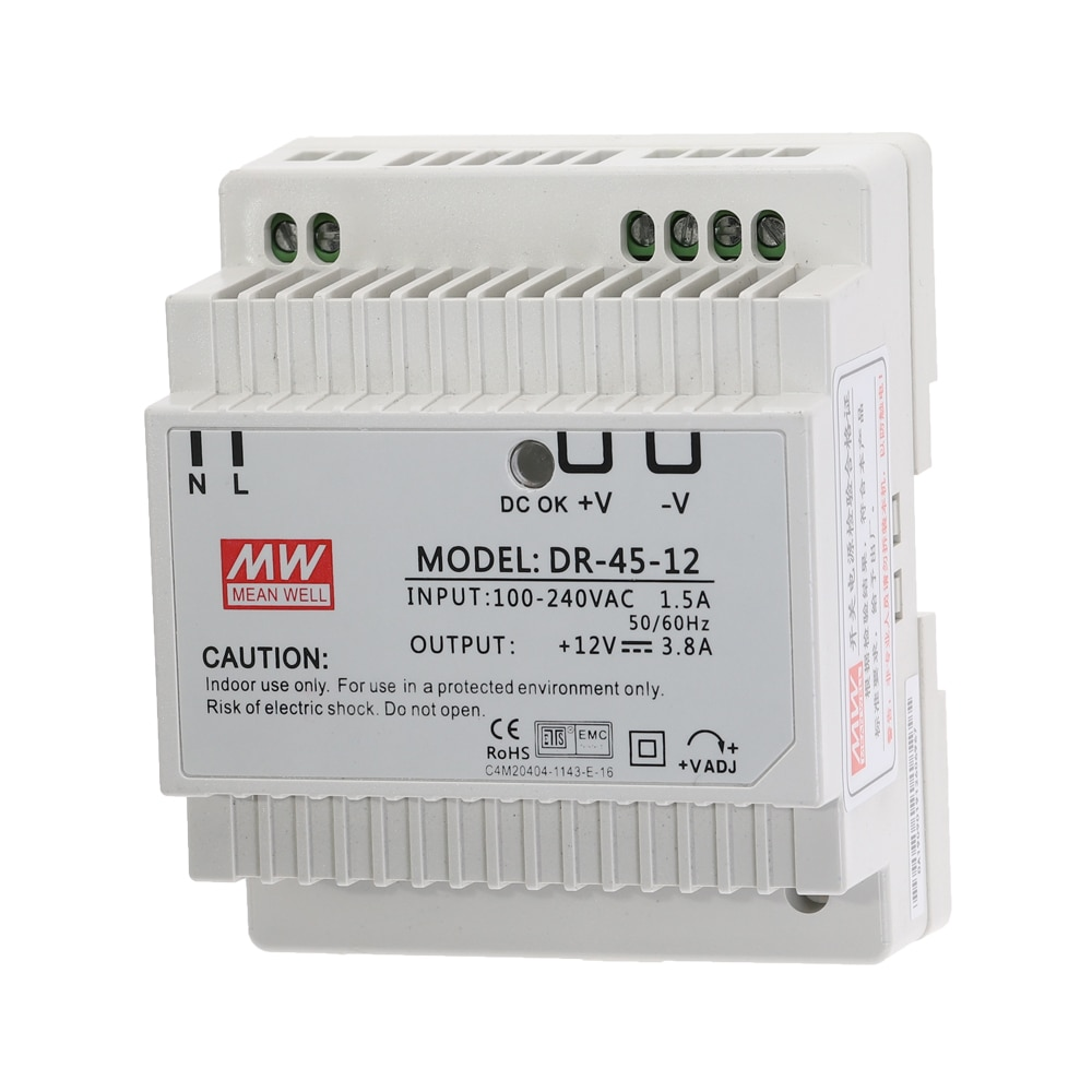 DR-45 45W Single Output 5V 12V 15V 24V Din Rail Switching Power Supply DR-45-5 DR-45-12 DR-45-15 DR-45-24 Power Transformer