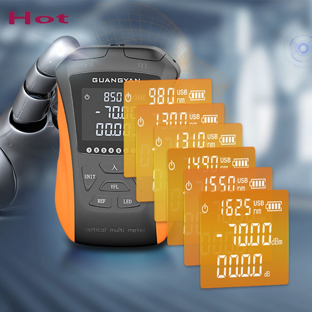 مصغرة متعددة الوظائف الألياف البصرية السلطة متر 5-15 كجم البصرية خطأ محدد بوخوم شبكة كابل اختبار اختبار الألياف الضوئية الليزر أداة