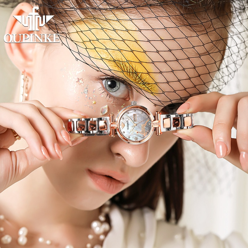 OUPINKE Women Watch Mechanical  Fashion Switzerland Luxury Brand Ladies Wrist Watch Automatic Designer montre femme Gift 3180-1 enlarge