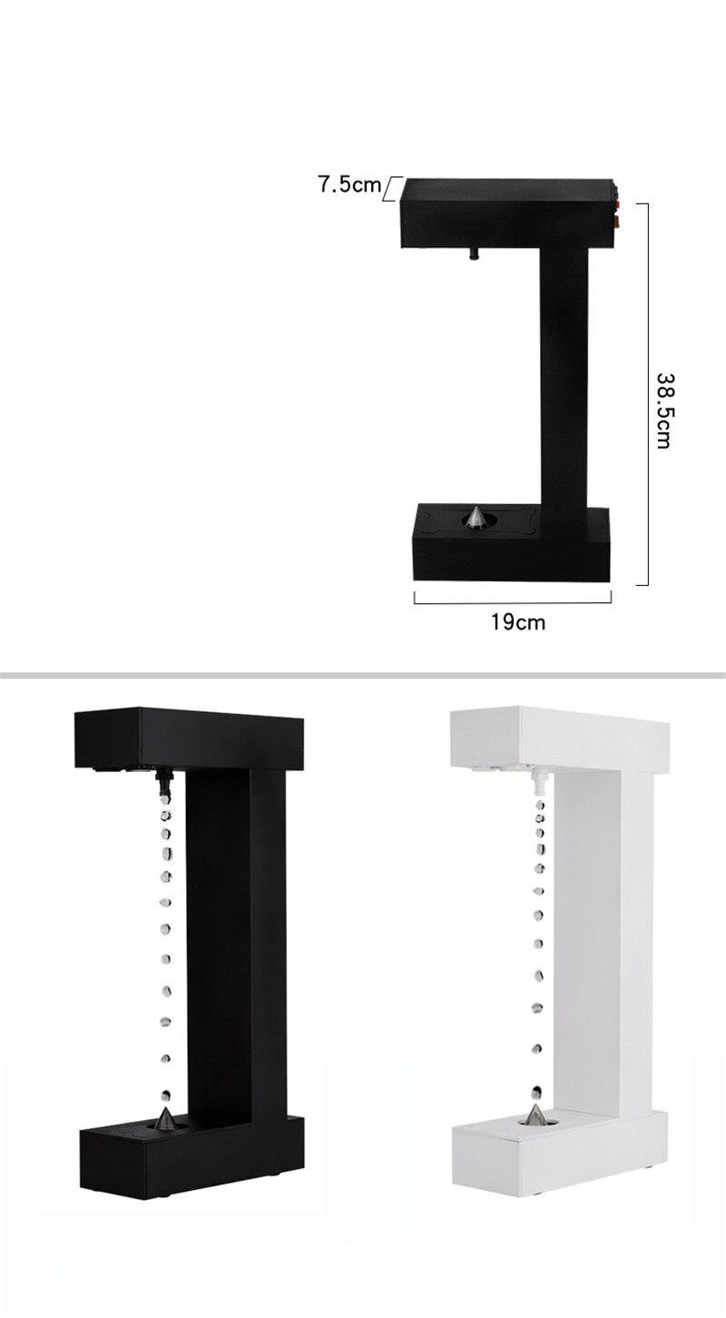 Anti-Gravity Water Drops Back Flow Office Decoration Creative Personality Modern Time Hourglass enlarge