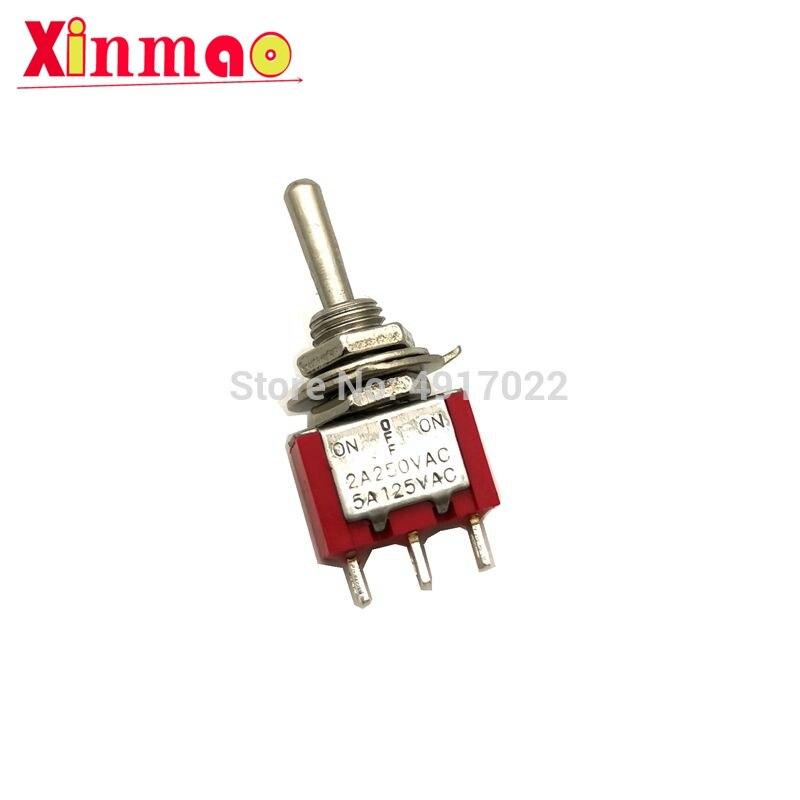 2/5 шт., 6 мм, красный переключатель, 3 контакта, SPDT вкл/выкл