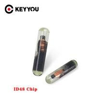 KEYYOU – transpondeur de clé de voiture ID48 T6, 10 pièces/lot, puce de cryptage débloquée pour VW /Audi /Seat /Skoda /Porsche, haute qualité professionnelle