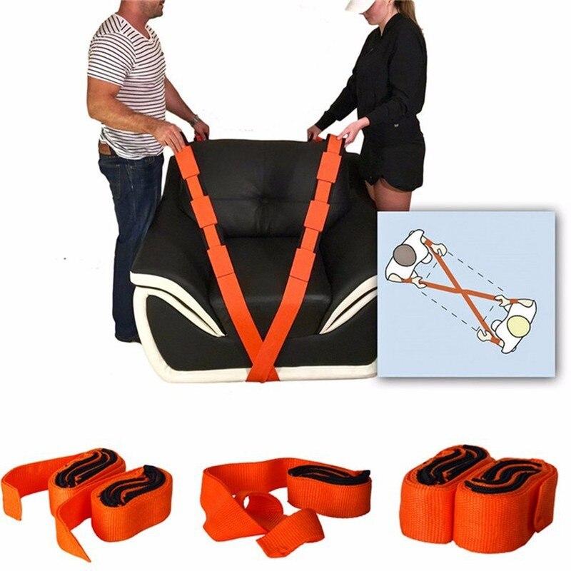 2 uds. Transportador de muebles ahorrador de trabajo elevador de cinta transportadora de nailon correa transportadora de almacenamiento más fácil