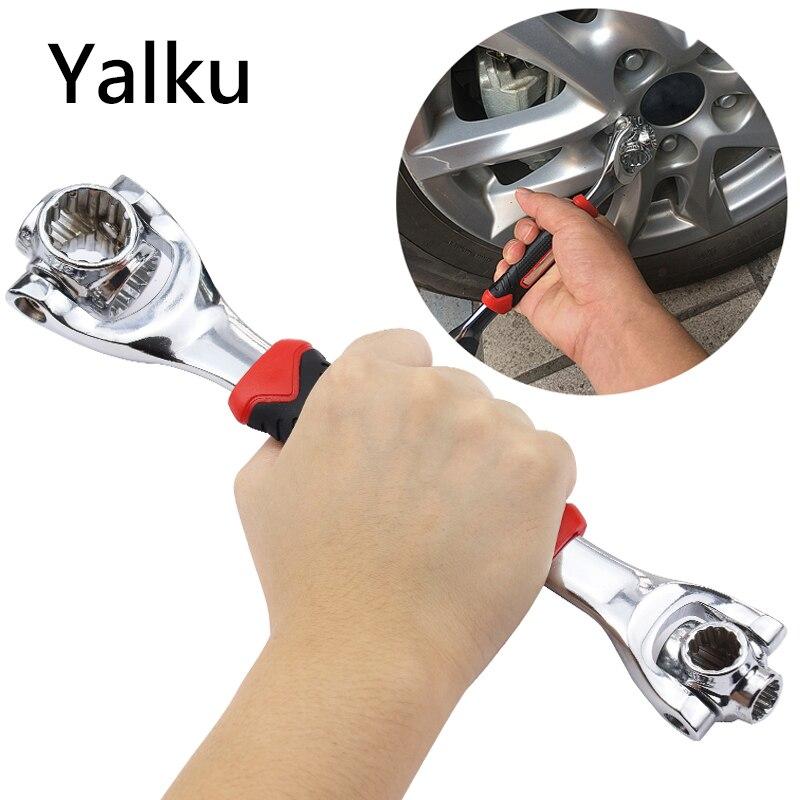 Llave de torsión Yalku 48 en 1 llave de tigre Universal llave de 12 dientes 8-10-11-13-14-16-17-19MM llave de tigre llave dinamométrica