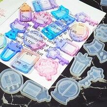 New Arrival Shaker Molds Milk Bottle UV Resin Epoxy Mold  Magic Wand Oil Syringe Craft Tools