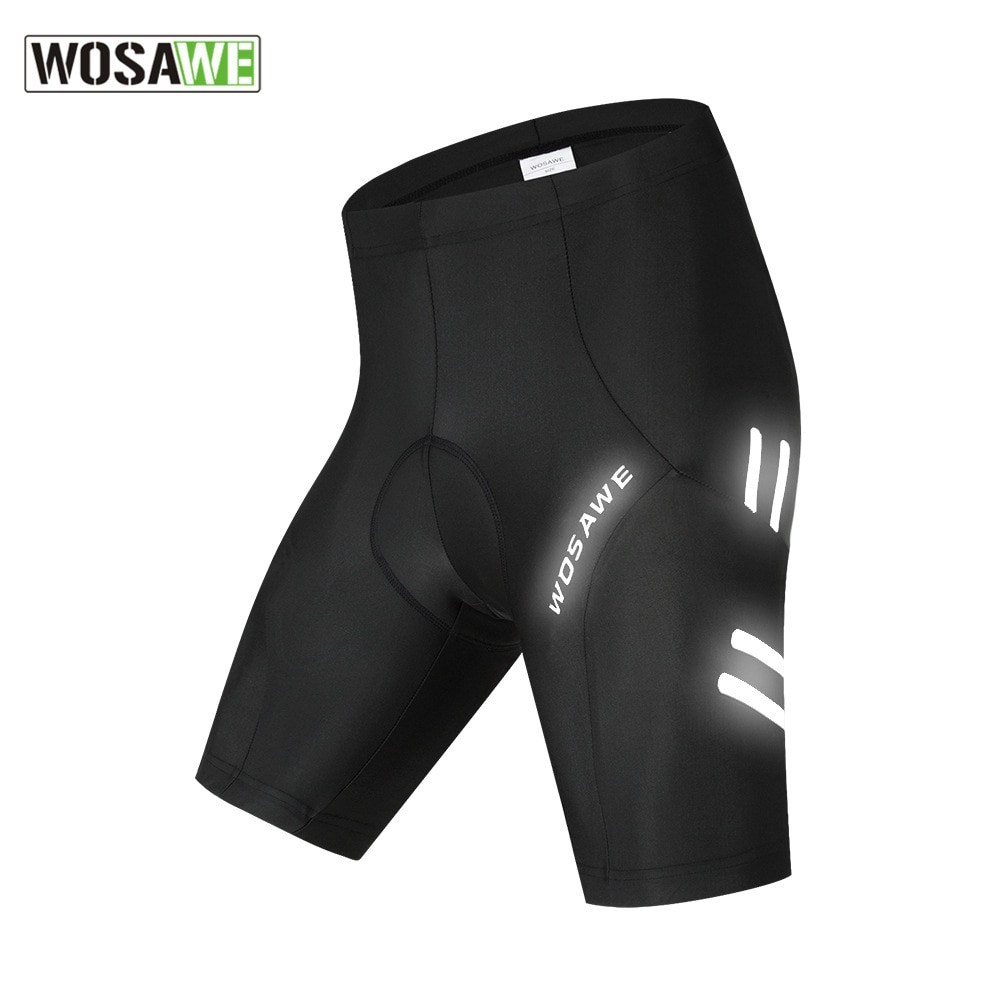 WOSAWE 5D Padded motorcycle Men's Shorts Shockproof Reflective Summer Sport Wear MTB Bicycle Road Bike Downhill Tights Shorts enlarge