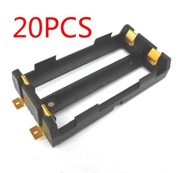 HJXY 50 unids/lote nuevo banco de energía 18650 soporte de batería de plástico titular de la batería caja de almacenamiento para 2x18650 envío gratis