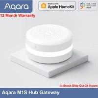Aqara     Hub Gateway M1S avec veilleuse LED RGB Zigbee 3 0  commande a distance via application Mijia et Apple HomeKit  livraison rapide