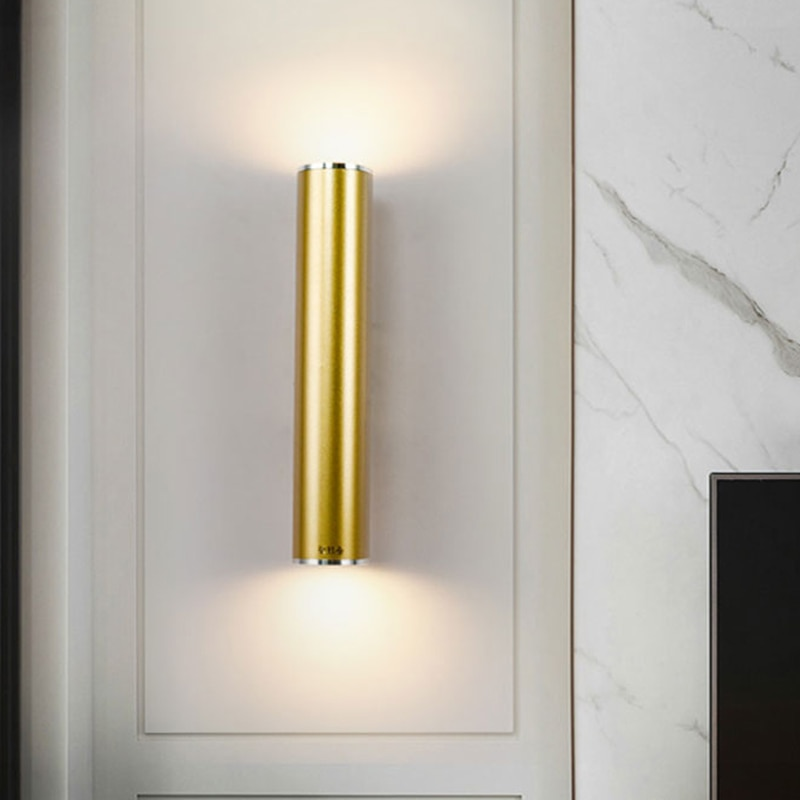 AliExpress - Gold Pipe Wall Lamps Tube Light Home Decor Bathroom Bedroom Lamp Wall Sconces Modern Led Mirror Light Loft Industrial Luminaire