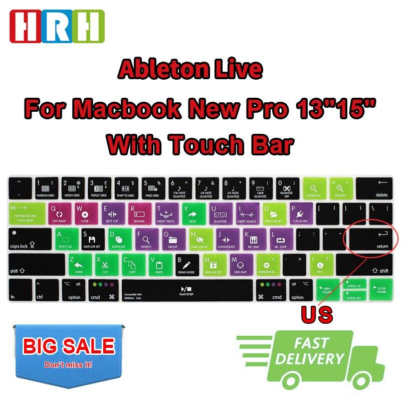 HRH-funda de silicona Ableton Live para teclado, para Mac Pro de 13...