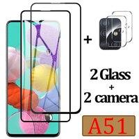 Защитное стекло для Samsung A51, Защитное стекло для Samsung Galaxy A51, пленка для объектива камеры на Sunsung A 51, закаленное стекло