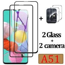 ป้องกันสำหรับ Samsung A51ป้องกันหน้าจอแก้วสำหรับ Samsung Galaxy A51เลนส์กล้องฟิล์ม Sunsung 51 Tempered glas