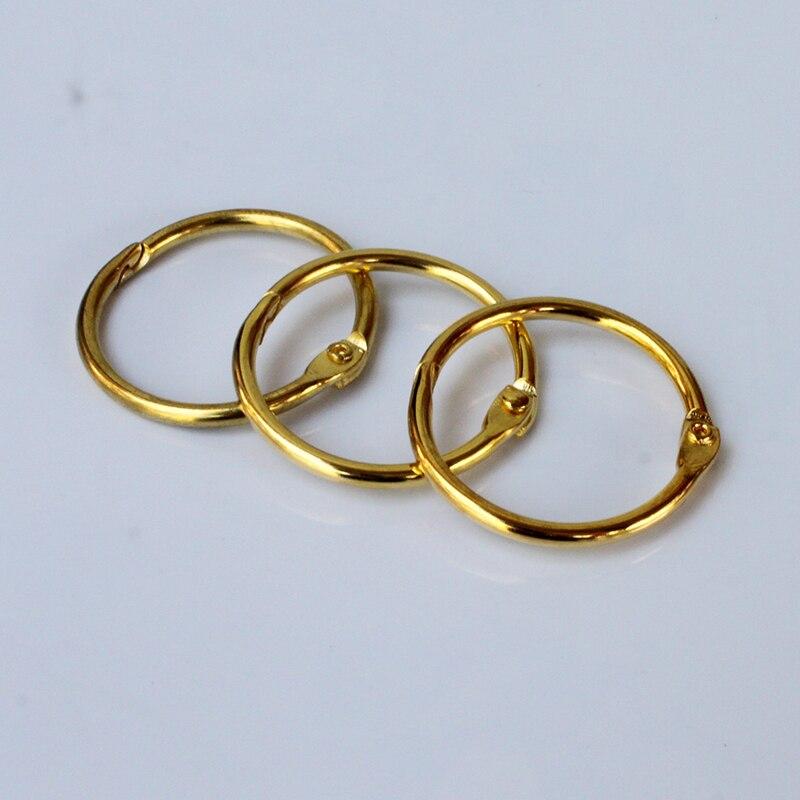 1 piezas de oro de moda anillo de unión 32MM Universal conveniente seguro documento vinculante de suministros de la escuela, la Oficina suministros