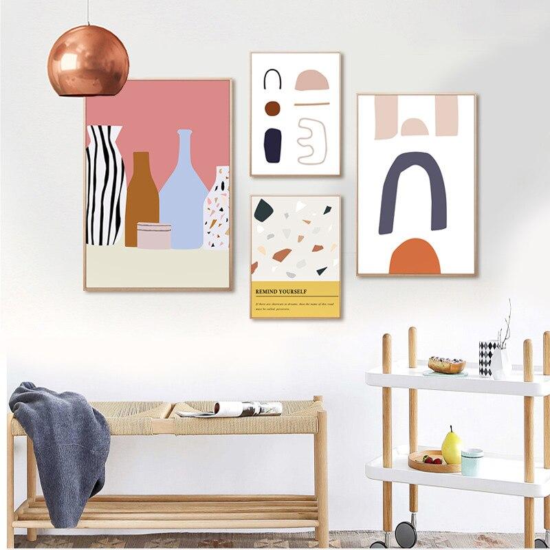 Скандинавские постеры и принты, абстрактная живопись, художественные работы на холсте, картины для современной спальни, декор для гостиной
