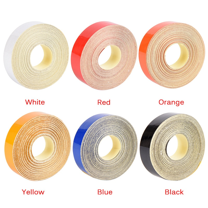 Купить с кэшбэком 1pc Waterproof Multi Color Reflective Safety Warning Conspicuity Tape Roll Film Sticker Good Viscous