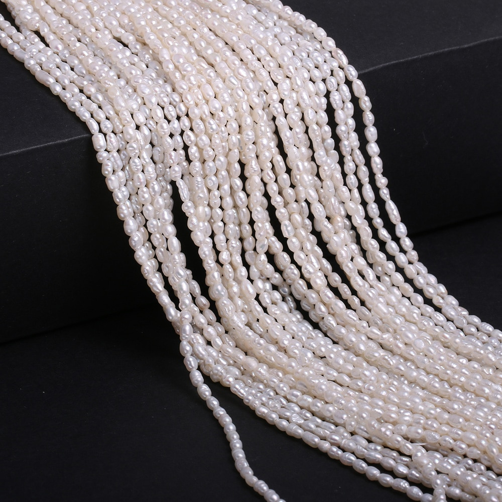 2-2.5mm Natural Freshwater Pearl Beaded Real Pearls for Women DIY Charm Necklace Bracelet Jewelry Making  - buy with discount