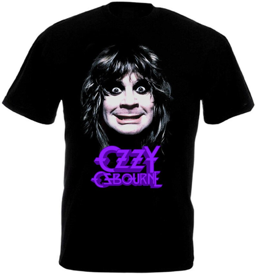 Ozzy Osbourne póster V1 camiseta negra todas las tallas al por mayor camiseta