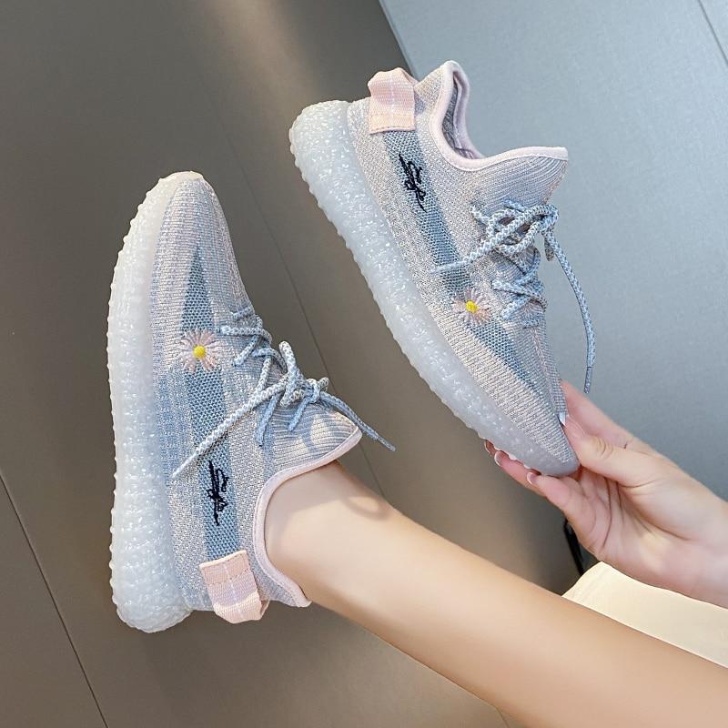 Весенняя модная спортивная обувь, женская обувь, новинка 2021, водонепроницаемая обувь, женская обувь на плоской подошве, женская спортивная ...