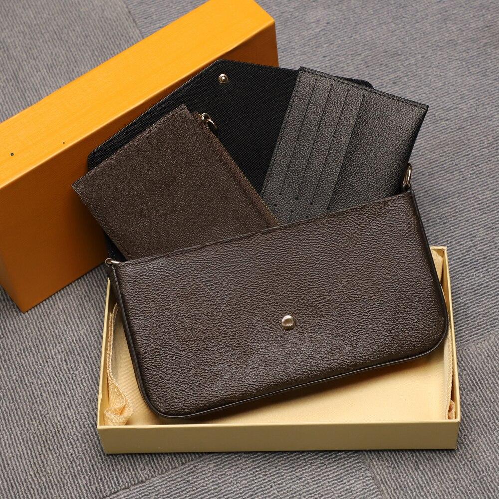 أعلى جودة فاخرة تصميم المرأة ثلاث قطع سلسلة حقيبة ساعي حقائب كتف سيدة موضة حقائب نسائية مع صندوق