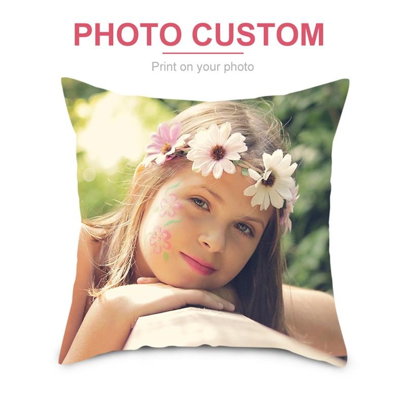 Чехол для подушки Fuwatacchi на заказ, декоративная квадратная диванная подушка для дома, наволочка с принтом, 45*45 см